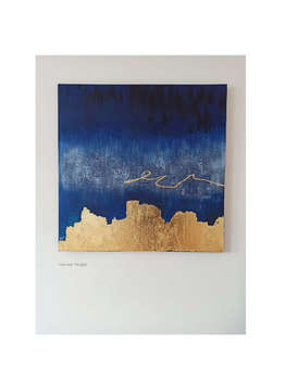 Strength. The navy blue and gold painting  - Monika Targiel