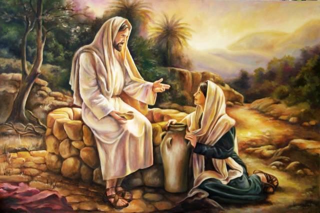Znalezione obrazy dla zapytania: jezus i samarytanka