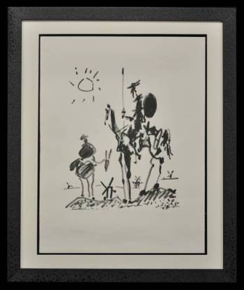 Don Quixote and Sancho Panza - Pablo Picasso