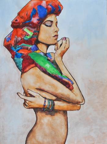 Figure with Headscarf - Peter Mcquillan