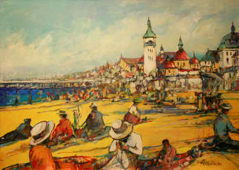 On the beach in Sopot - Piotr Rembieliński