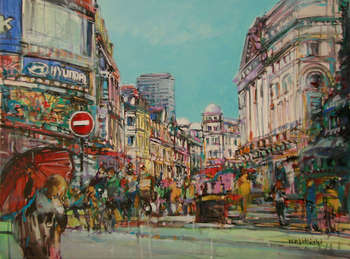 Piccadilly Circus in London - Piotr Rembieliński