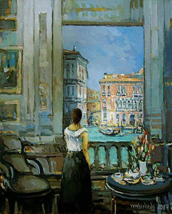 Venice, the woman in the window - Piotr Rembieliński