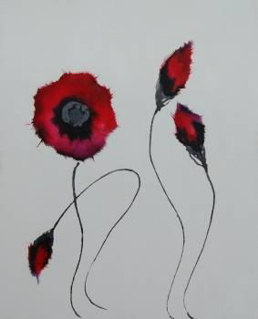 Crimson Poppies - Rachel McCullock