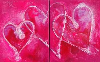 Pink Passion Diptych - Rachel McCullock