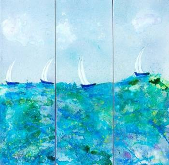 Racing home triptych - Rachel McCullock