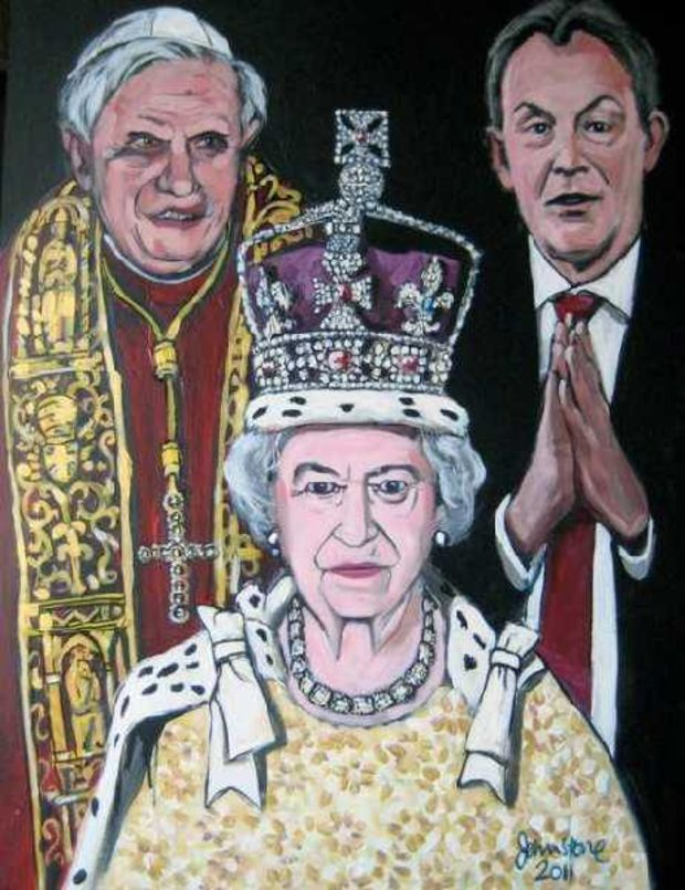 The Pope the Queen and the politician Ray Johnstone