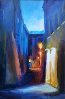 Twilight in Senate Street a Cracovia - Renata Rychlik