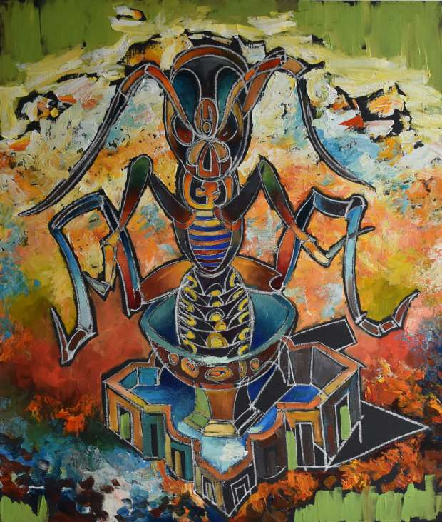 "(!) New collection ""Dance of Paradigm"". Picture ""Insect Lord"" Roman Bonchuk"
