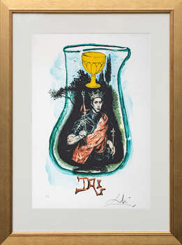 King in a glass - Salvador Dali