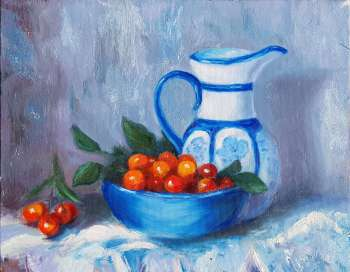 Still life with cherry - Svetlana Grishkovec-Kiisky