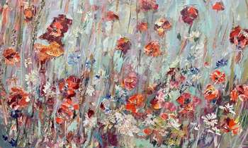 "An image as a volcano of emotions ... ""Poppy field"" - Sylwia Kalinowska"