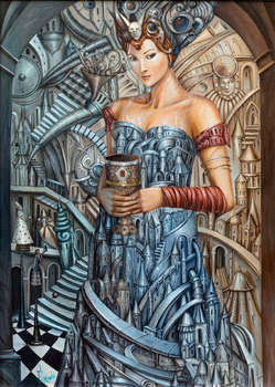 Girl with a grail - Tomasz Sętowski