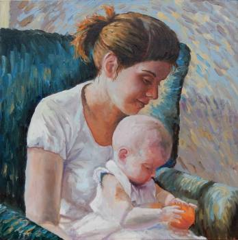 Portrait of Mother with baby - . Vita