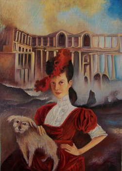 Lady with dog - Waldemar Tłuczek