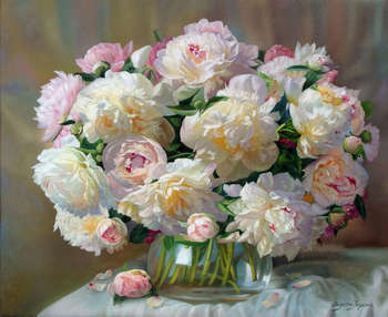 Slightly pink peonies - Zbigniew Kopania