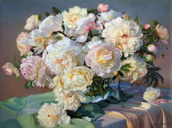 Flowered peonies - Zbigniew Kopania