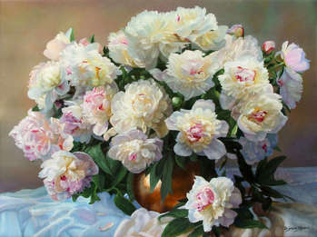 Freshly picked peonies - Zbigniew Kopania