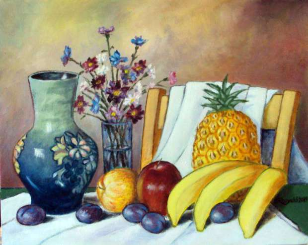 STILL LIFE WITH FRUIT Zenon Różycki