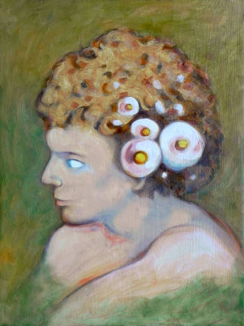 Boy with flowers in the hair - federico cortese